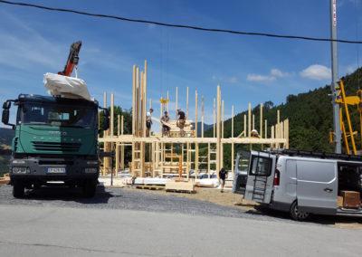Principe de construction chalet Pinget
